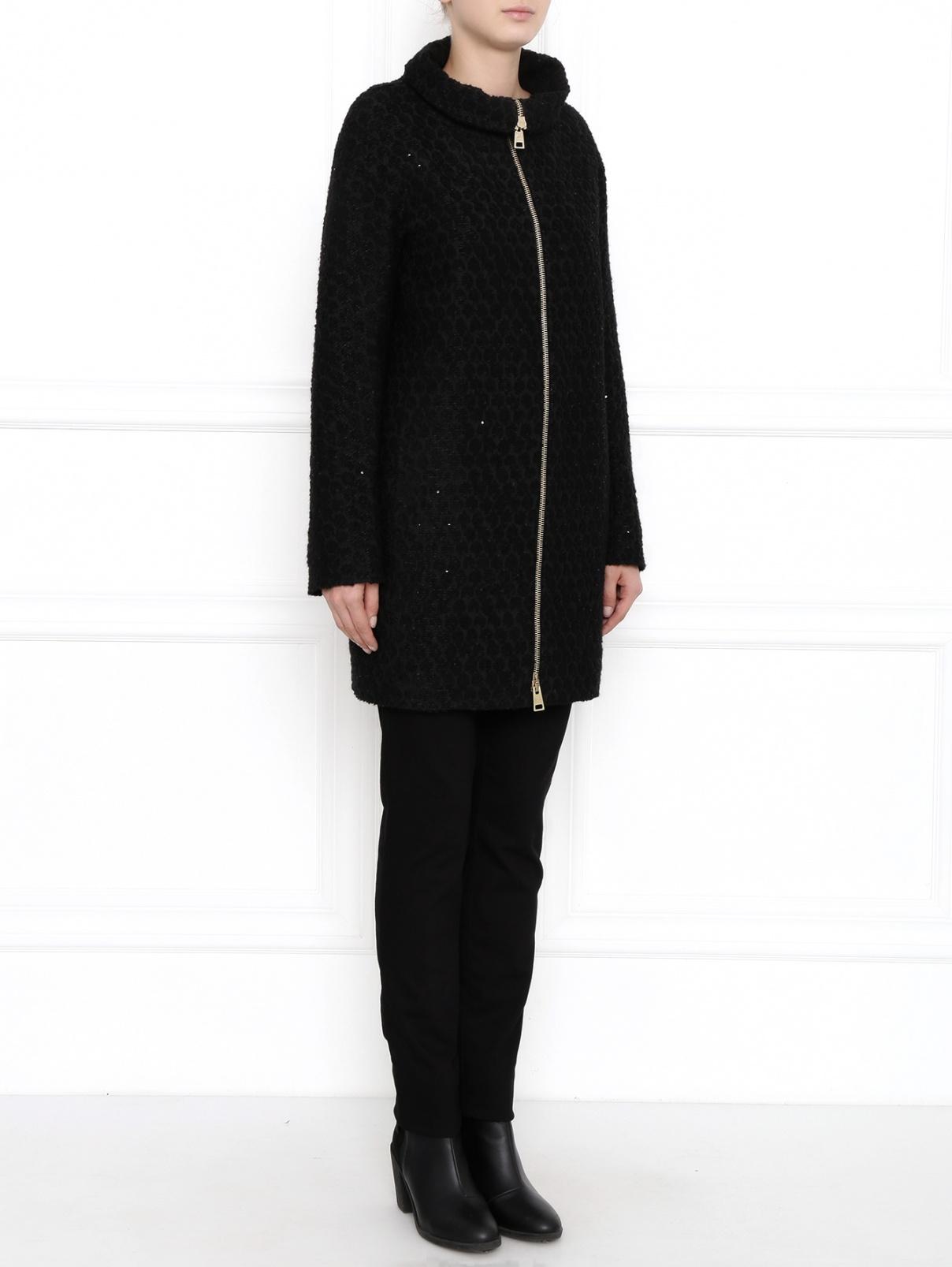 Пальто на молнии расшитое пайетками Herno  –  Модель Общий вид