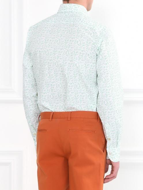 Рубашка из хлопка с цветочным узором - Модель Верх-Низ1
