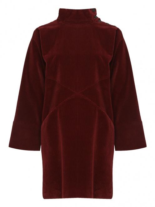 Вельветовое платье свободного кроя  - Общий вид