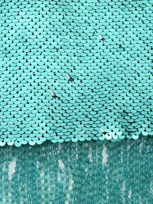 Юбка из ткани с пайетками с бахромой из бисера - Деталь