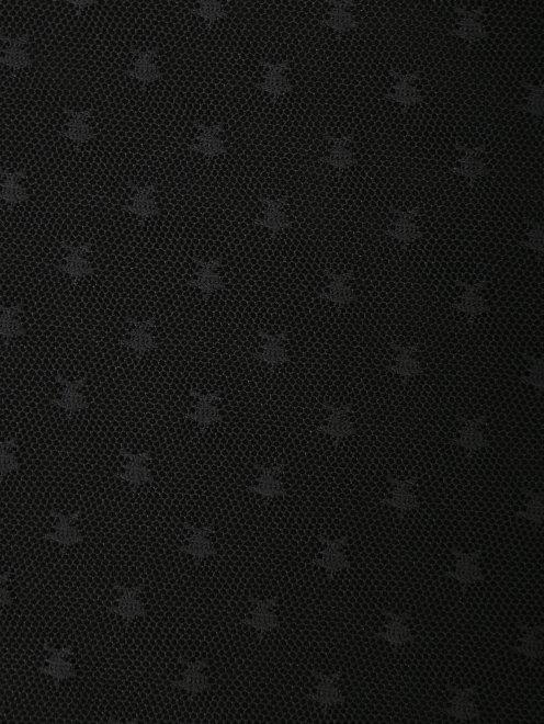 Топ из сетки с узором - Деталь1