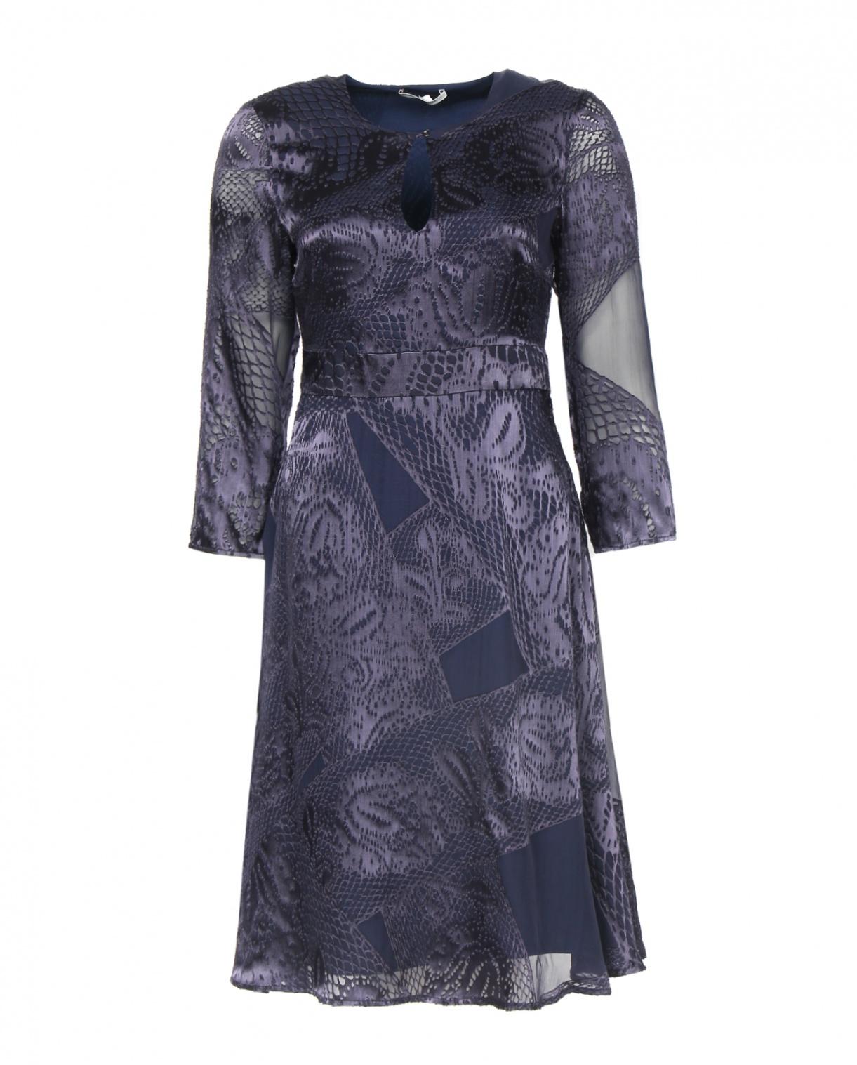 Платье с длинным рукавом и узором Les Petites...  –  Общий вид