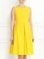 Платье из хлопка с драпировкой S Max Mara  –  Модель Верх-Низ