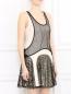 Платье-мини декорированное пайетками Rag & Bone  –  Модель Верх-Низ