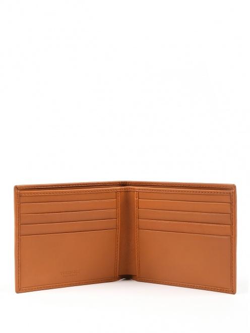 Однотонный кошелек из мягкой кожи - Обтравка2