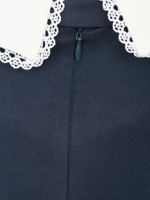 Платье-мини с контрастной отделкой - Деталь1
