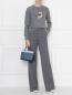 Джемпер хлопковый с вышивкой Markus Lupfer  –  МодельОбщийВид