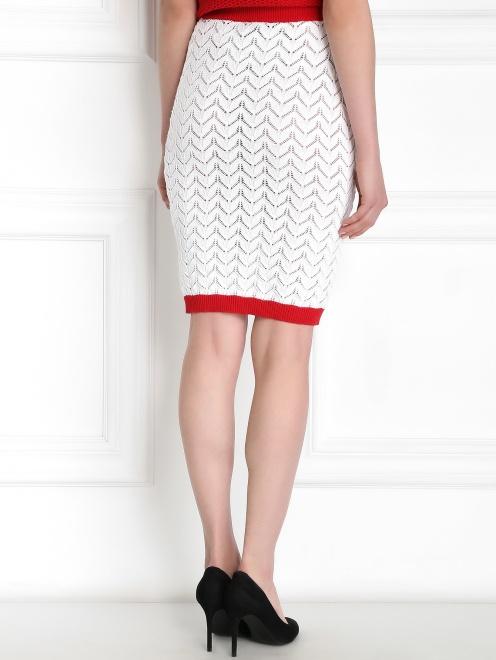 Трикотажная юбка-карандаш из хлопка - Модель Верх-Низ1