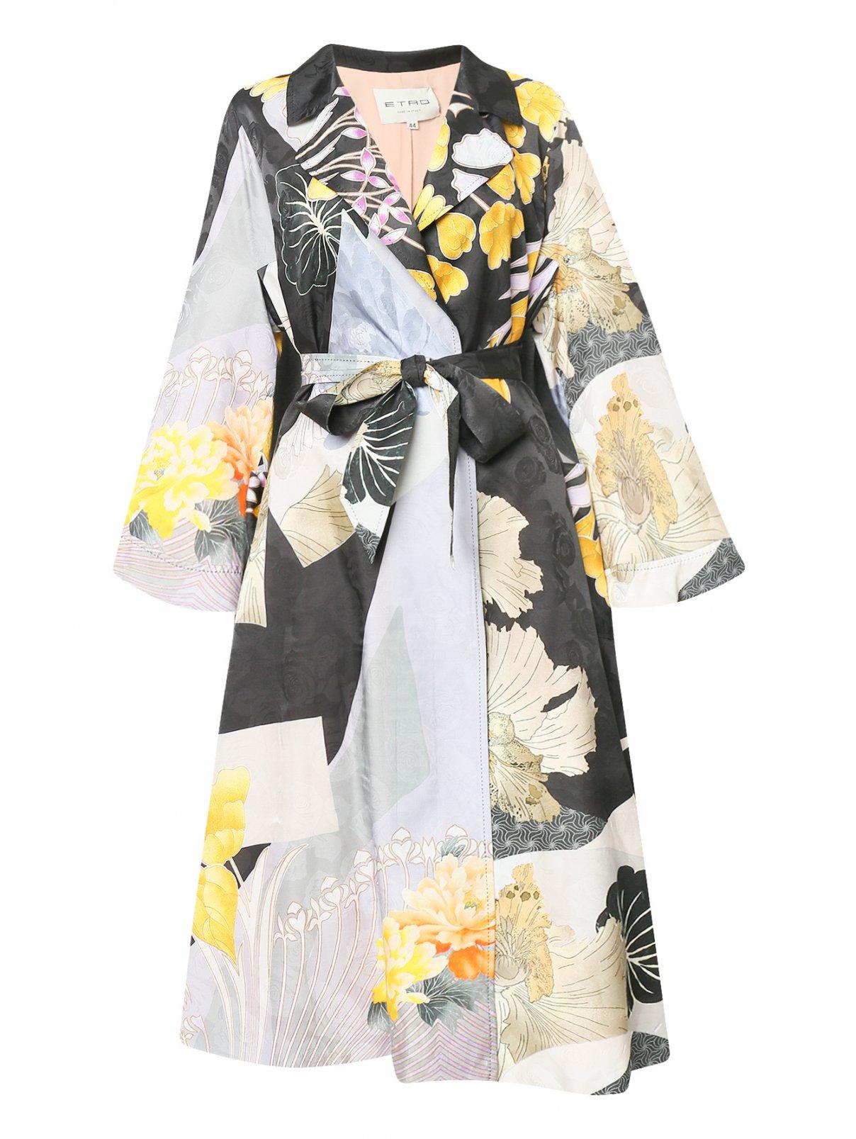 Легкое пальто из смешанного шелка с узором Etro  –  Общий вид  – Цвет:  Узор