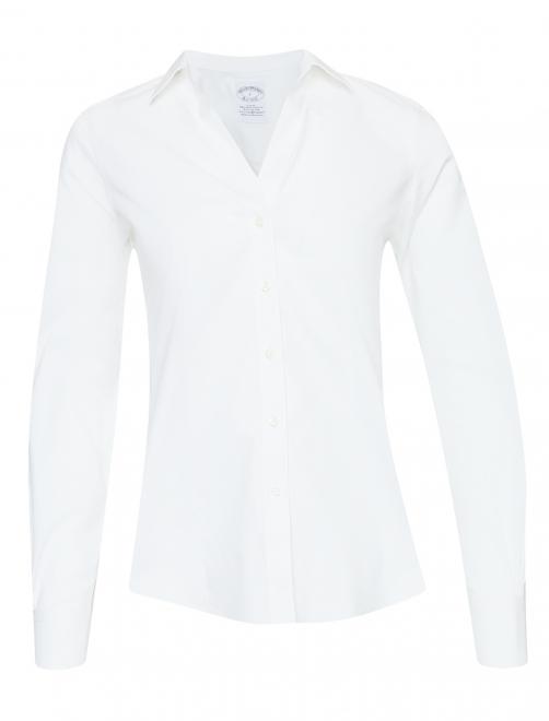Рубашка из хлопка приталенного кроя - Общий вид