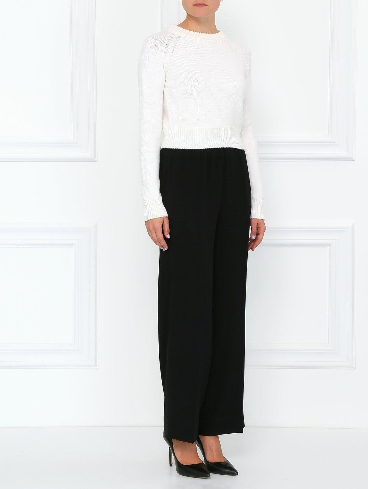 Широкие брюки на резинке Isola Marras  –  Модель Общий вид  – Цвет:  Черный