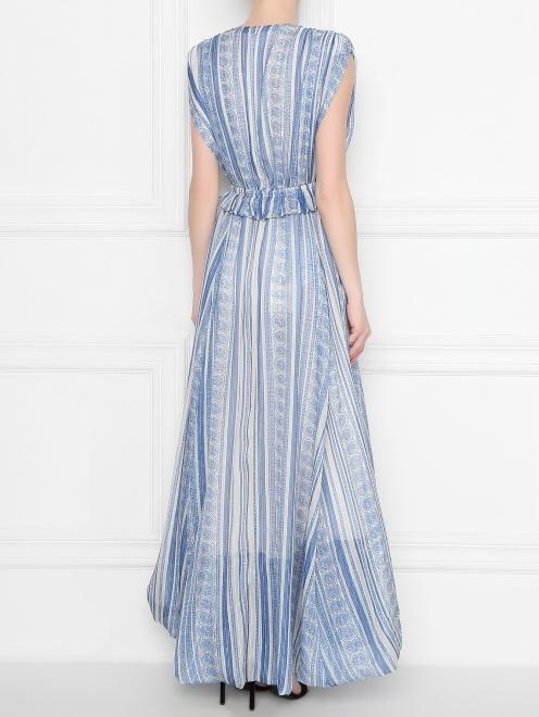 Платье  с узором полоска из шелка - МодельВерхНиз1