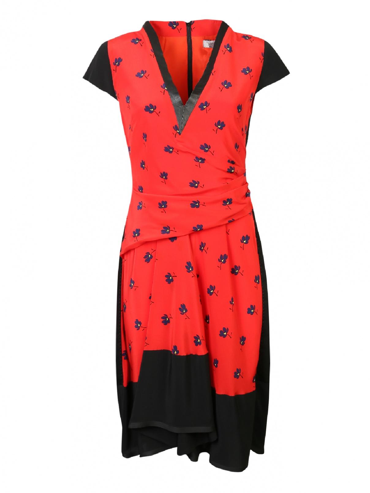 Платье из хлопка с узором Sportmax  –  Общий вид