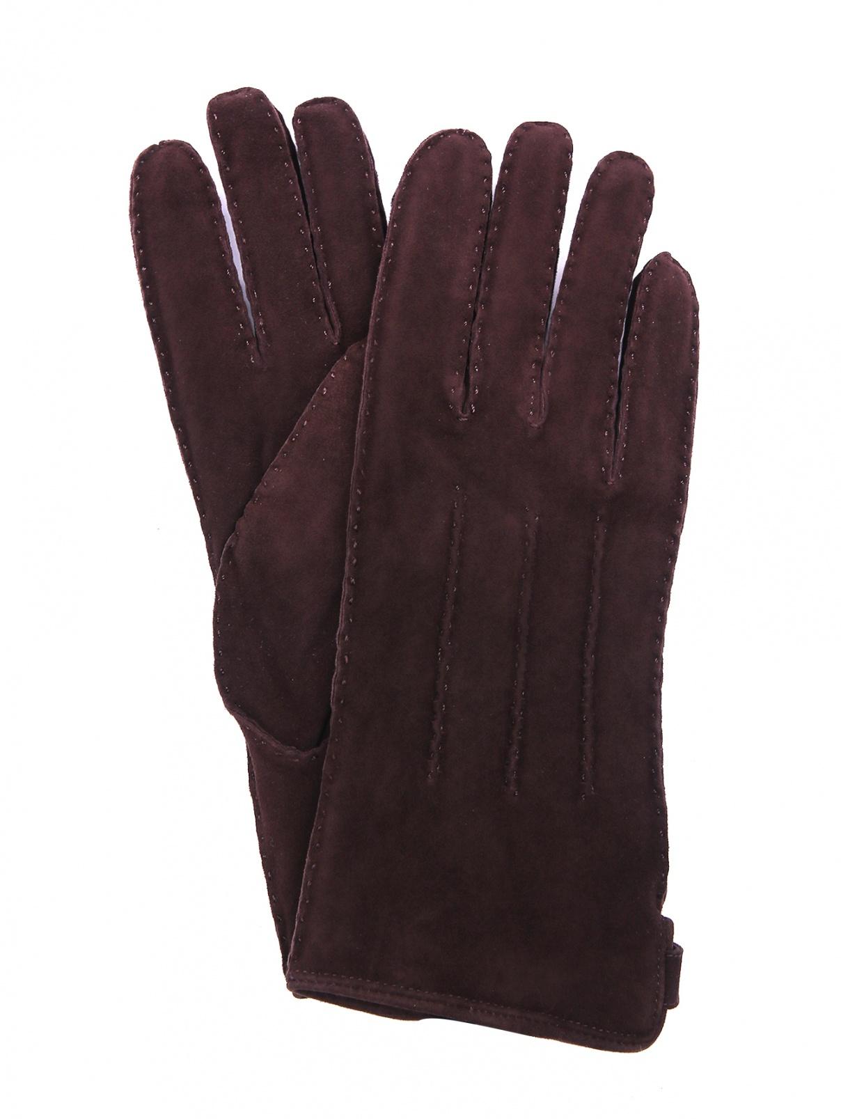 Перчатки из замши Joop!  –  Общий вид  – Цвет:  Коричневый