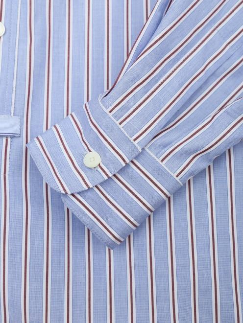 Блуза из хлопка в полоску - Деталь1