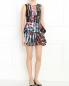 Платье с узором и баской MC Alexander McQueen  –  Модель Общий вид