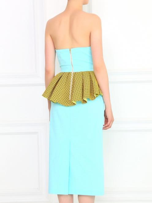 Платье-футляр без бретелей с драпировкой - Модель Верх-Низ1