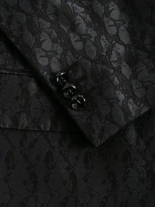 Пиджак однобортный из шелка с узором - Деталь