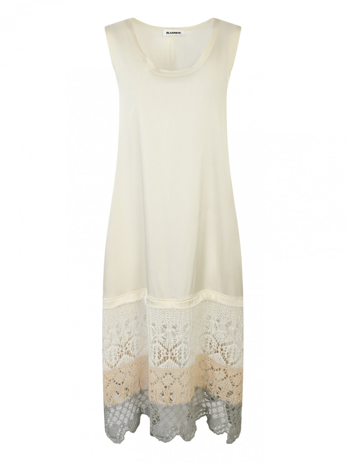 Платье свободного кроя с ажурной отделкой Jil Sander  –  Общий вид