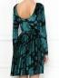 Платье-мини из бархата с цветочным узором Max&Co  –  МодельВерхНиз1