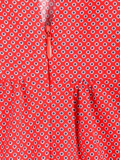 Платье-миди из хлопка с узором - Деталь
