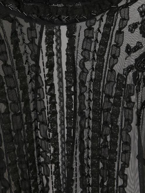 Платье из сетки расшитое бисером  - Деталь