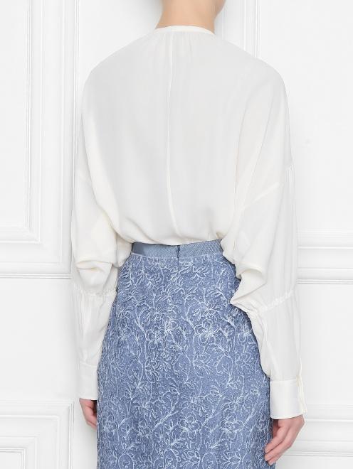 Блуза из шелка свободного кроя - МодельВерхНиз1