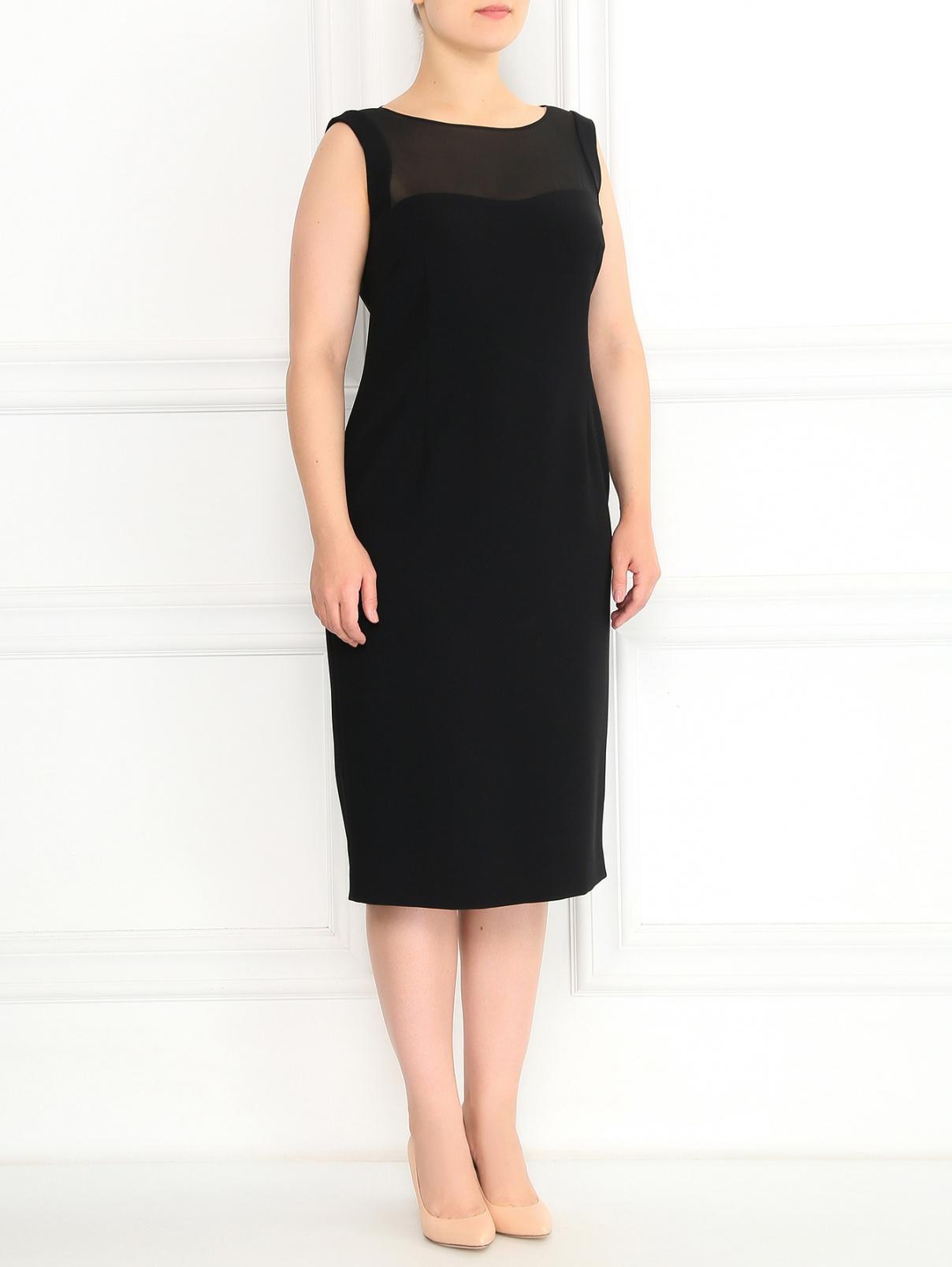 Платье-футляр с прозрачной вставкой Marina Rinaldi  –  Модель Общий вид