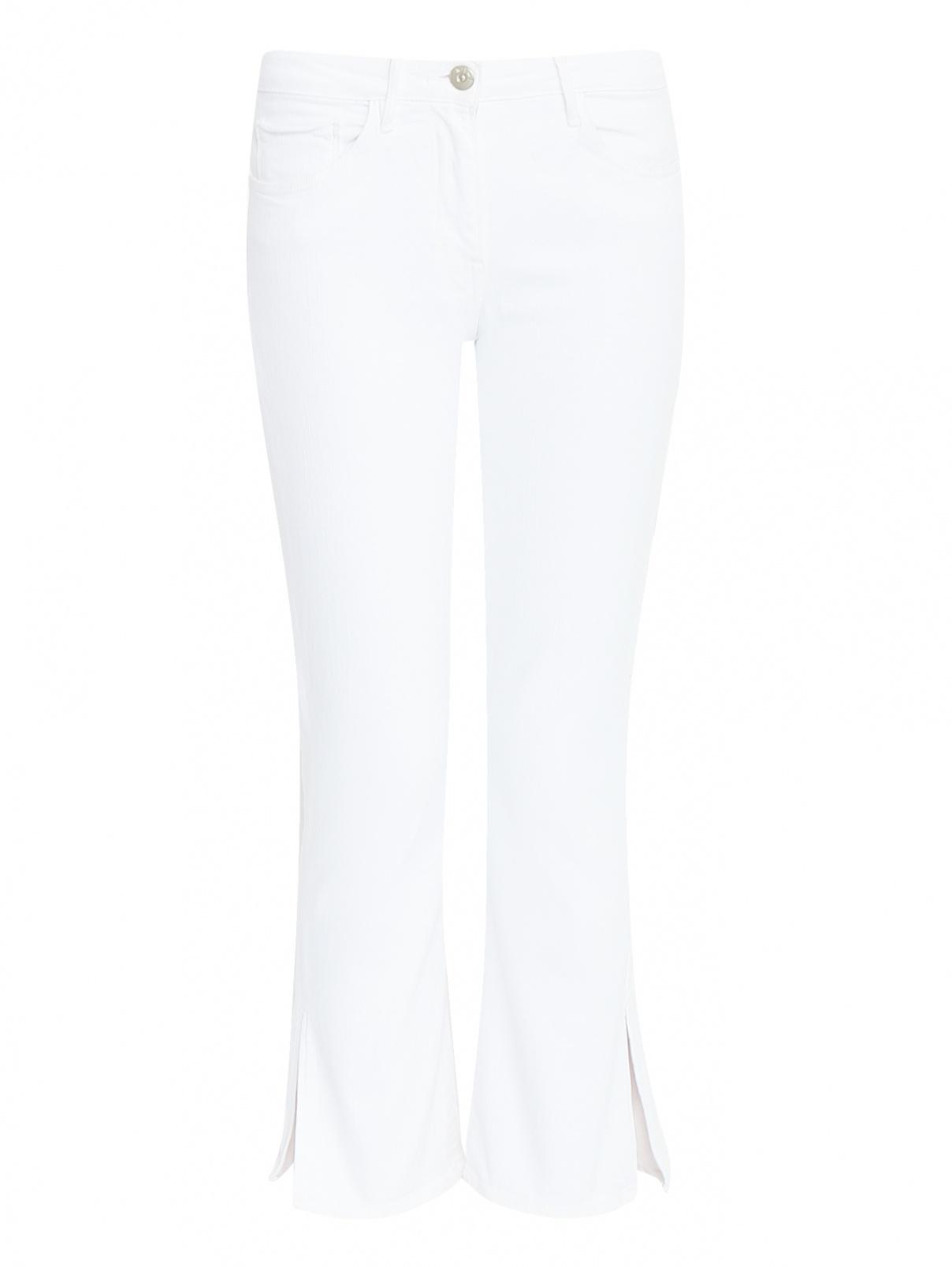 Укороченные джинсы с разрезами 3x1  –  Общий вид  – Цвет:  Белый