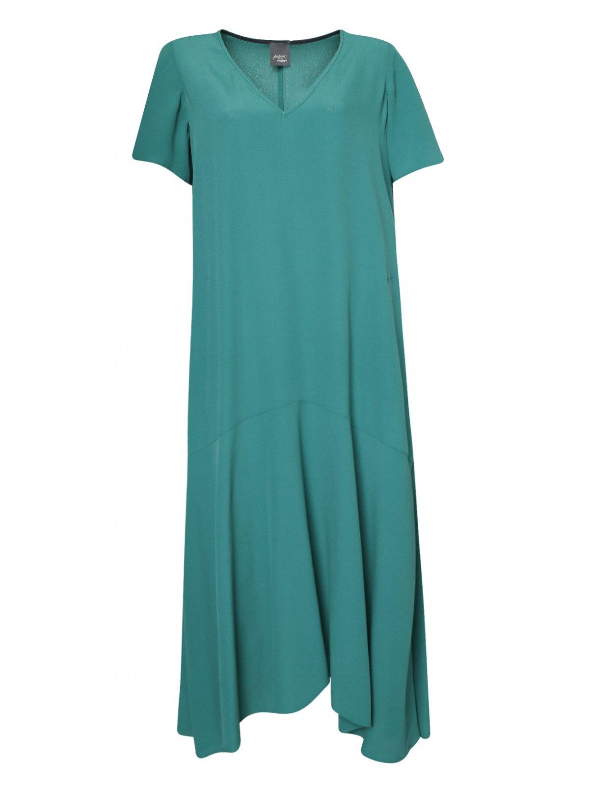 Платье-миди свободного кроя с короткими рукавами Persona by Marina Rinaldi  –  Общий вид