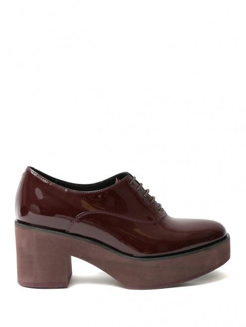 Ботинки из лакированной кожи на платформе - Общий вид