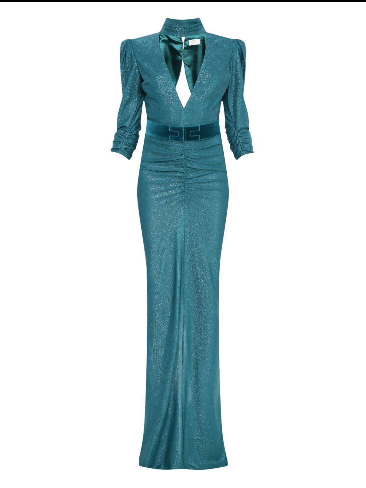 Платье-макси с открытой спиной Elisabetta Franchi  –  Общий вид
