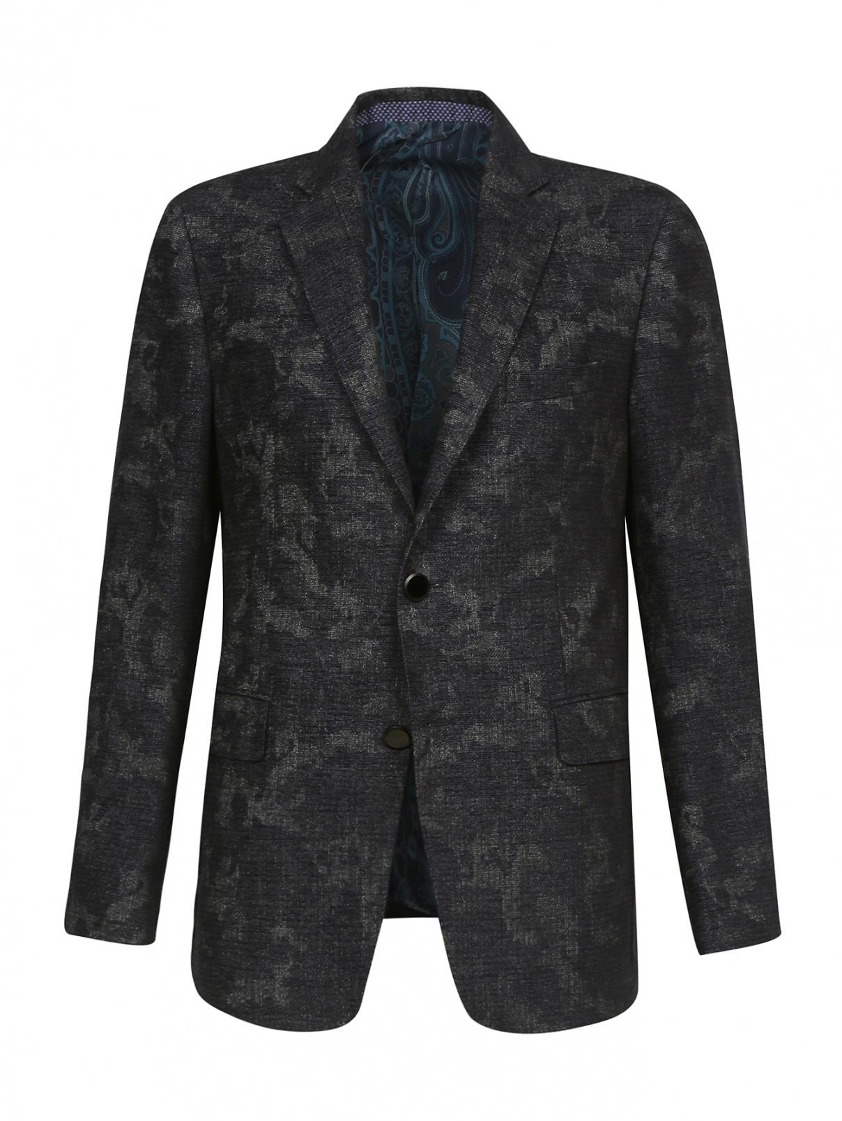 Пиджак из шести с узором Etro  –  Общий вид