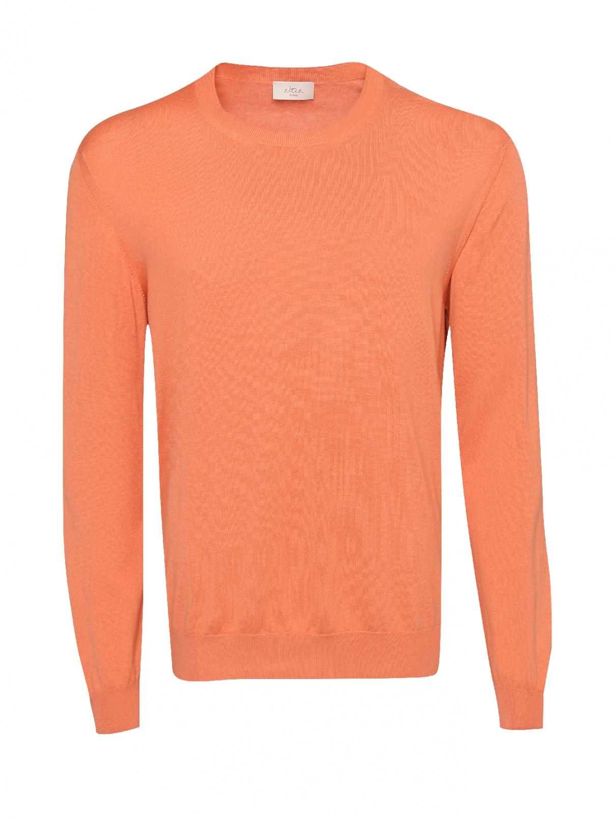 Джемпер из шелка и хлопка Altea  –  Общий вид  – Цвет:  Оранжевый