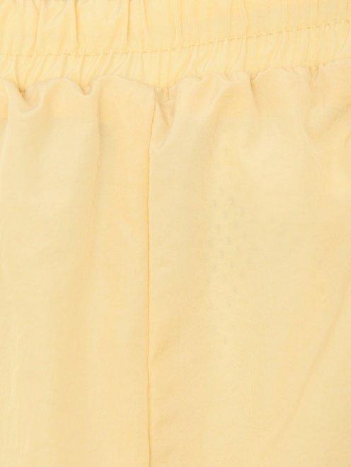 Брюки из жатой ткани на резинке - Деталь1