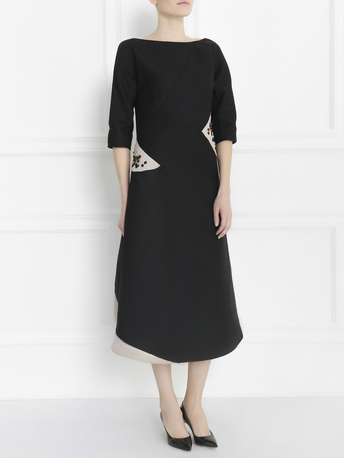 Платье-футляр декорированное кристаллами Jil Sander  –  Модель Общий вид