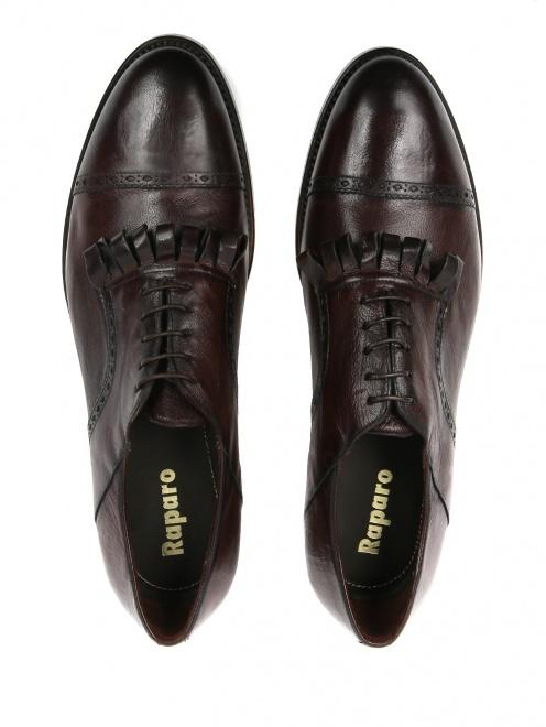 Ботинки из кожи с бахромой  - Обтравка4