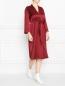 Платье прямого силуэта с поясом Marina Rinaldi  –  МодельОбщийВид