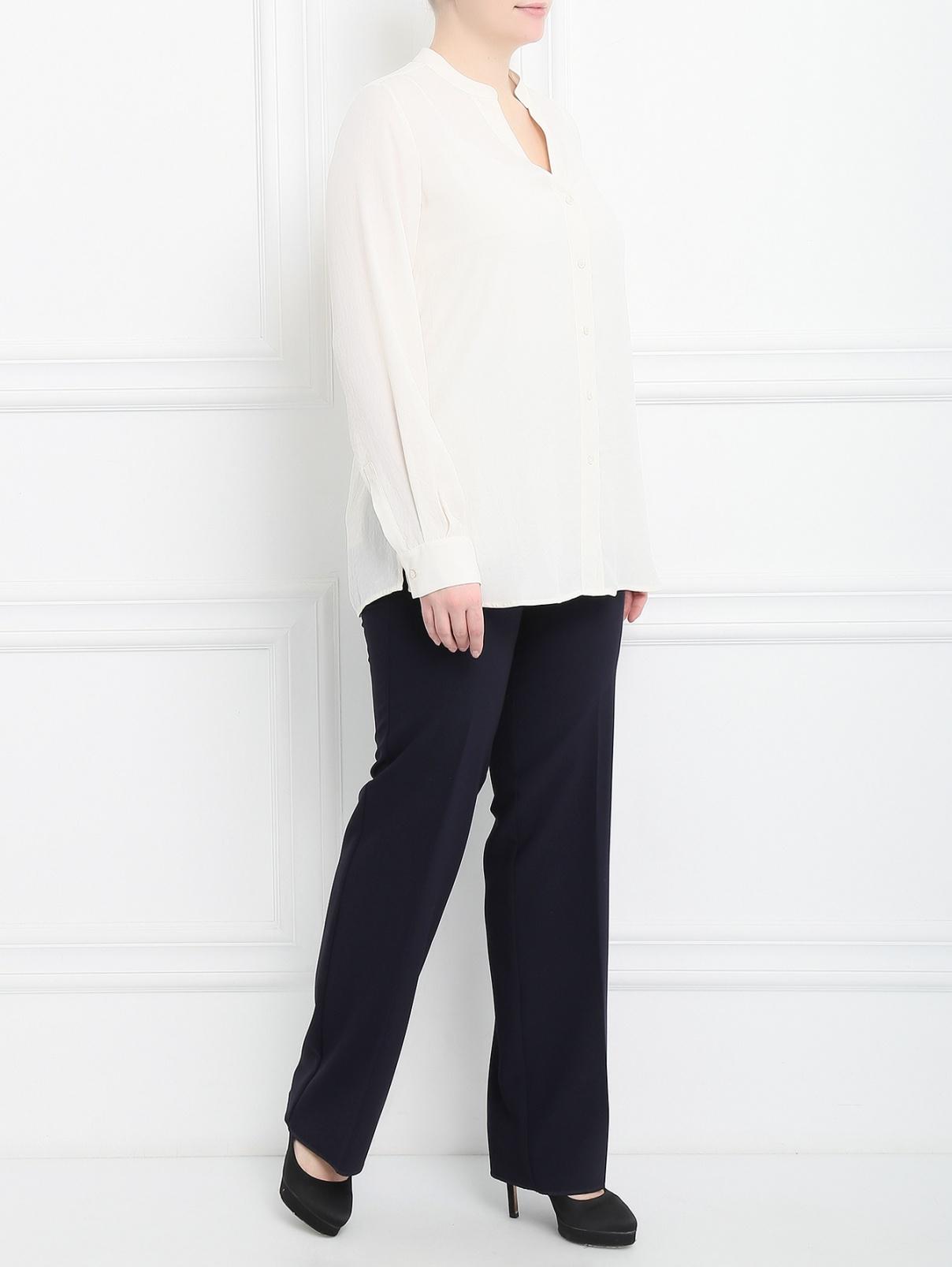 Блуза свободного кроя Marina Sport  –  Модель Общий вид  – Цвет:  Белый