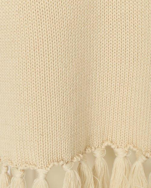 Платье прямого кроя из хлопка с бахромой - Деталь1