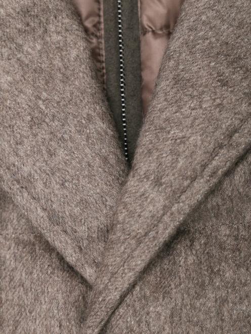 Стеганый пуховик из шелка и кашемира  - Деталь