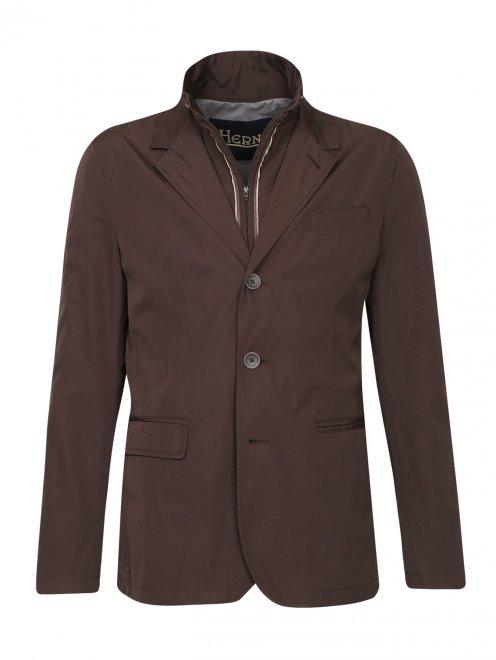 Пиджак с подкладом на молнии - Общий вид