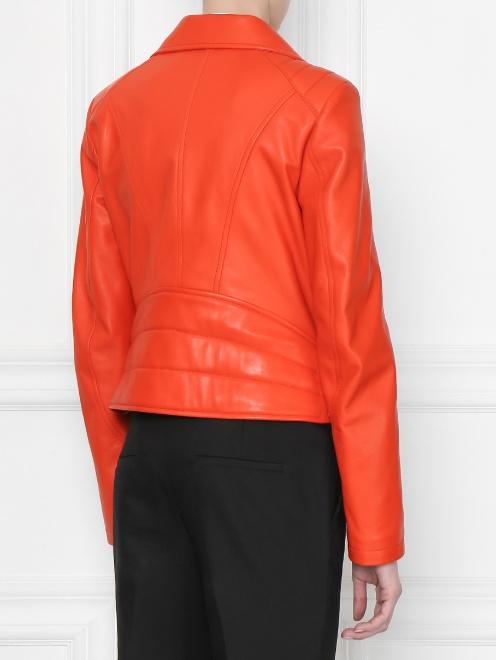 Куртка кожаная на молнии  - МодельВерхНиз1