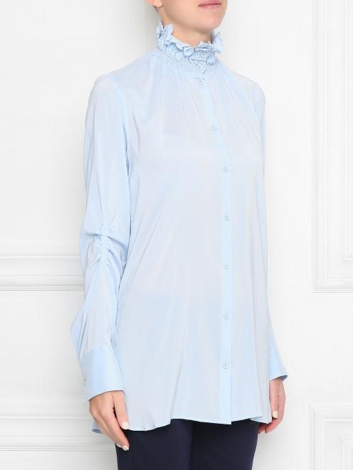 Блуза из шелка со сборкой - МодельВерхНиз