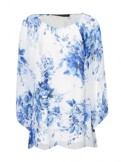 Блуза из вискозы с цветочным узором - Общий вид