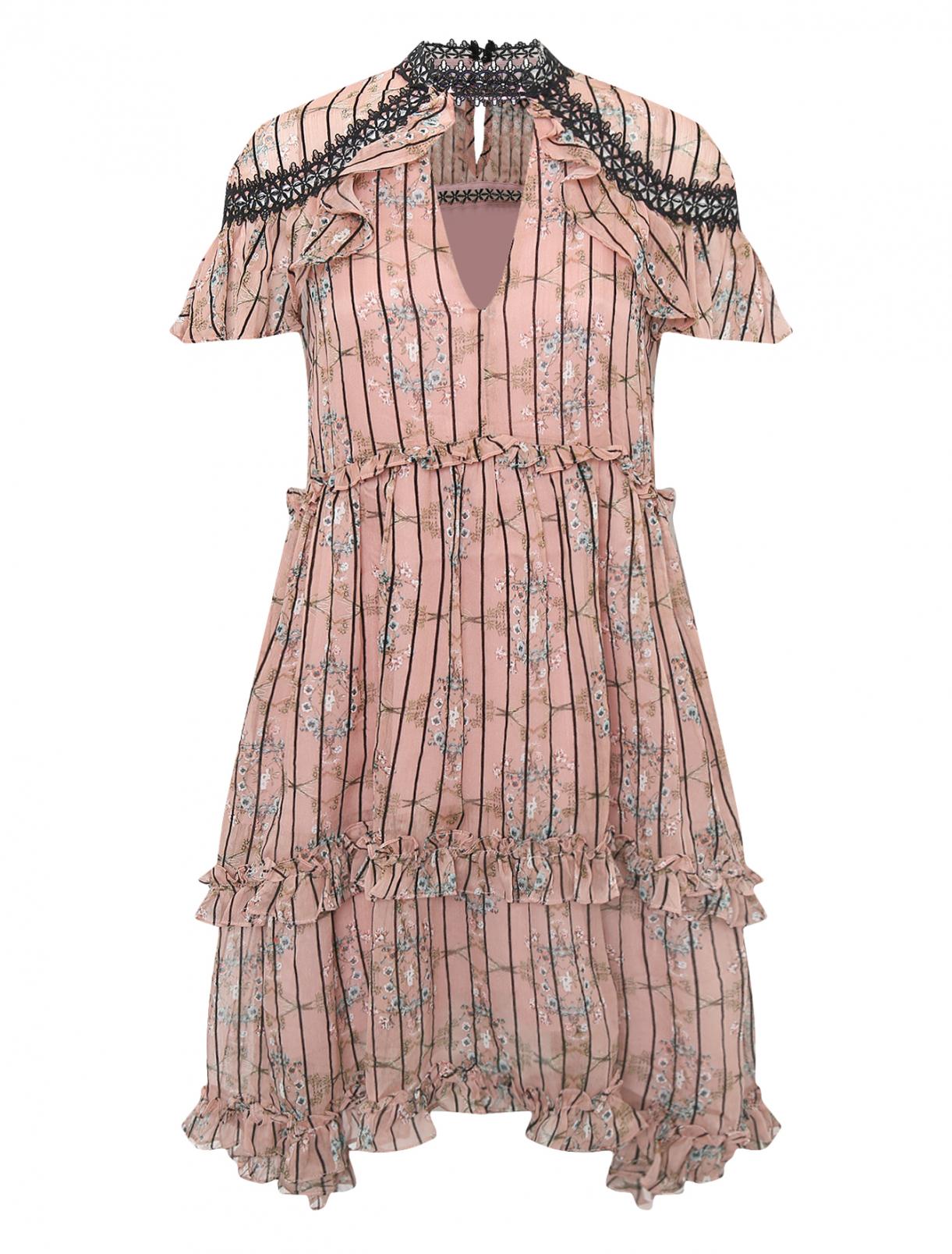 Платье с цветочным узором Elliatt  –  Общий вид