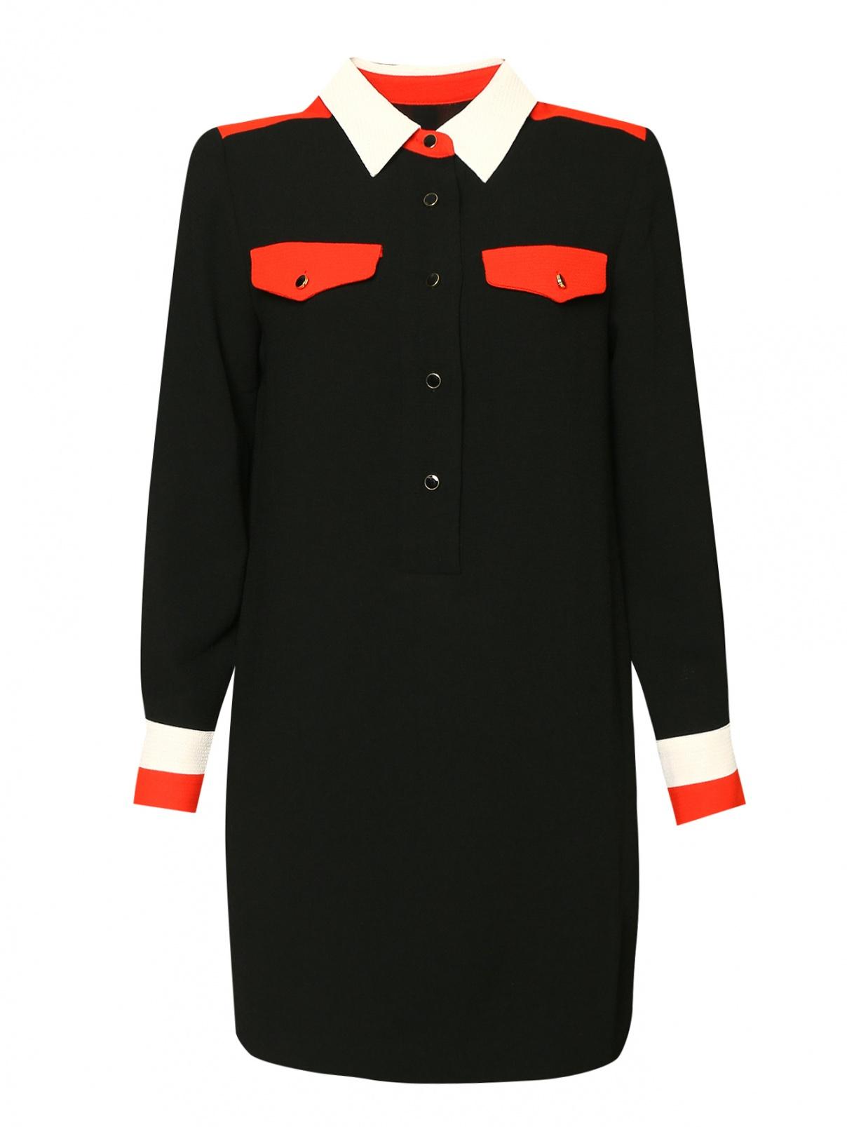 Платье с контрастной отделкой Essentiel Antwerp  –  Общий вид