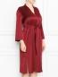 Платье прямого силуэта с поясом Marina Rinaldi  –  МодельВерхНиз