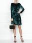 Платье-мини из бархата с цветочным узором Max&Co  –  МодельОбщийВид
