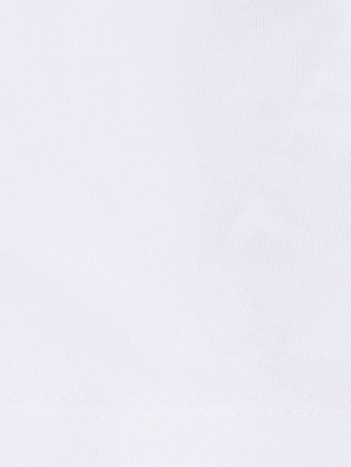 Лонгслив хлопковый с принтом - Деталь